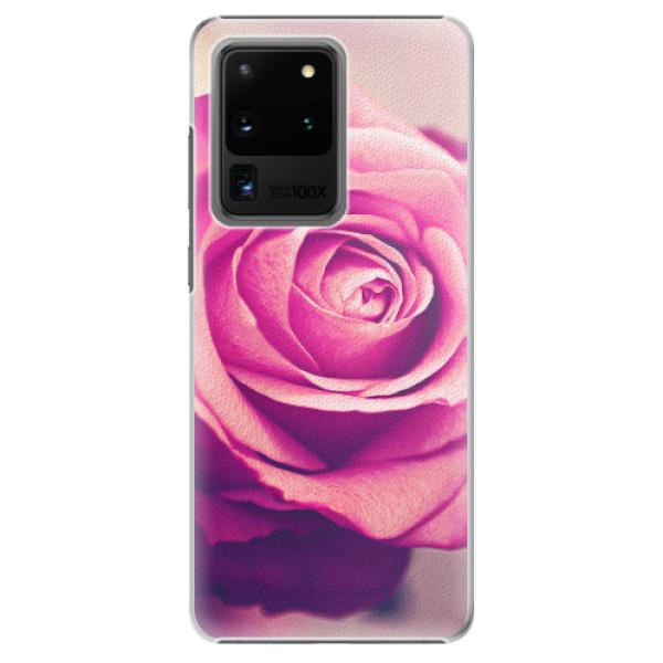 Plastové pouzdro iSaprio - Pink Rose - Samsung Galaxy S20 Ultra