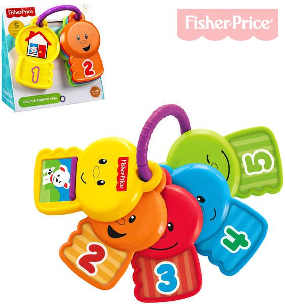 FISHER PRICE Chrastítko Klíčky barevné pro miminko