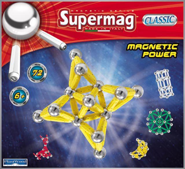 SUPERMAG klasik 72 dílků * MAGNETICKÁ STAVEBNICE *