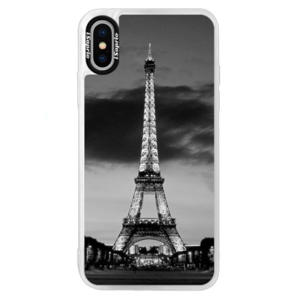 Neonové pouzdro Blue iSaprio - Midnight in Paris - iPhone X