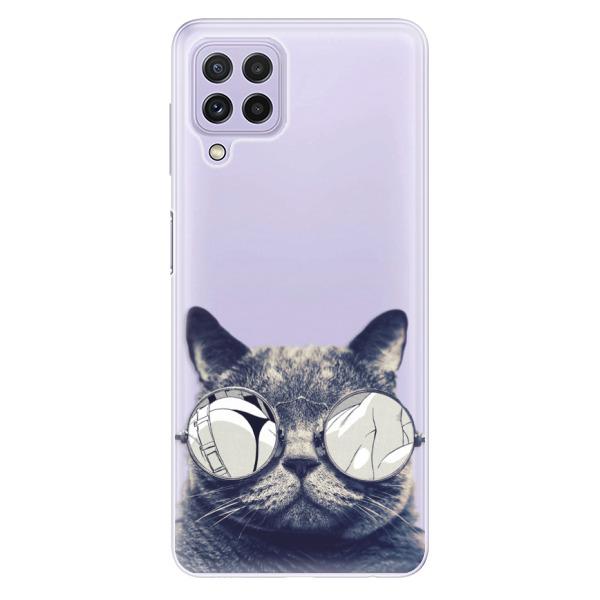 Odolné silikonové pouzdro iSaprio - Crazy Cat 01 - Samsung Galaxy A22