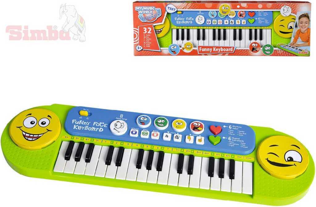 SIMBA MMW Klávesy dětské elektronické Funny 51x14cm pianko pro děti
