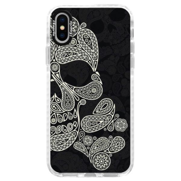 Silikonové pouzdro Bumper iSaprio - Mayan Skull - iPhone X