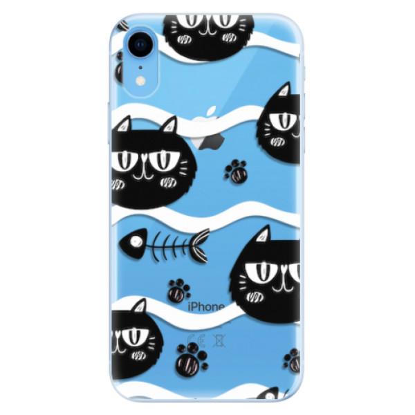 Odolné silikonové pouzdro iSaprio - Cat pattern 04 - iPhone XR