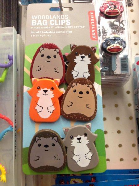 Klipy na sáčky - lesní zvířátka