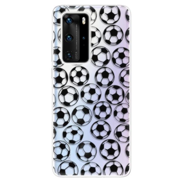 Odolné silikonové pouzdro iSaprio - Football pattern - black - Huawei P40 Pro
