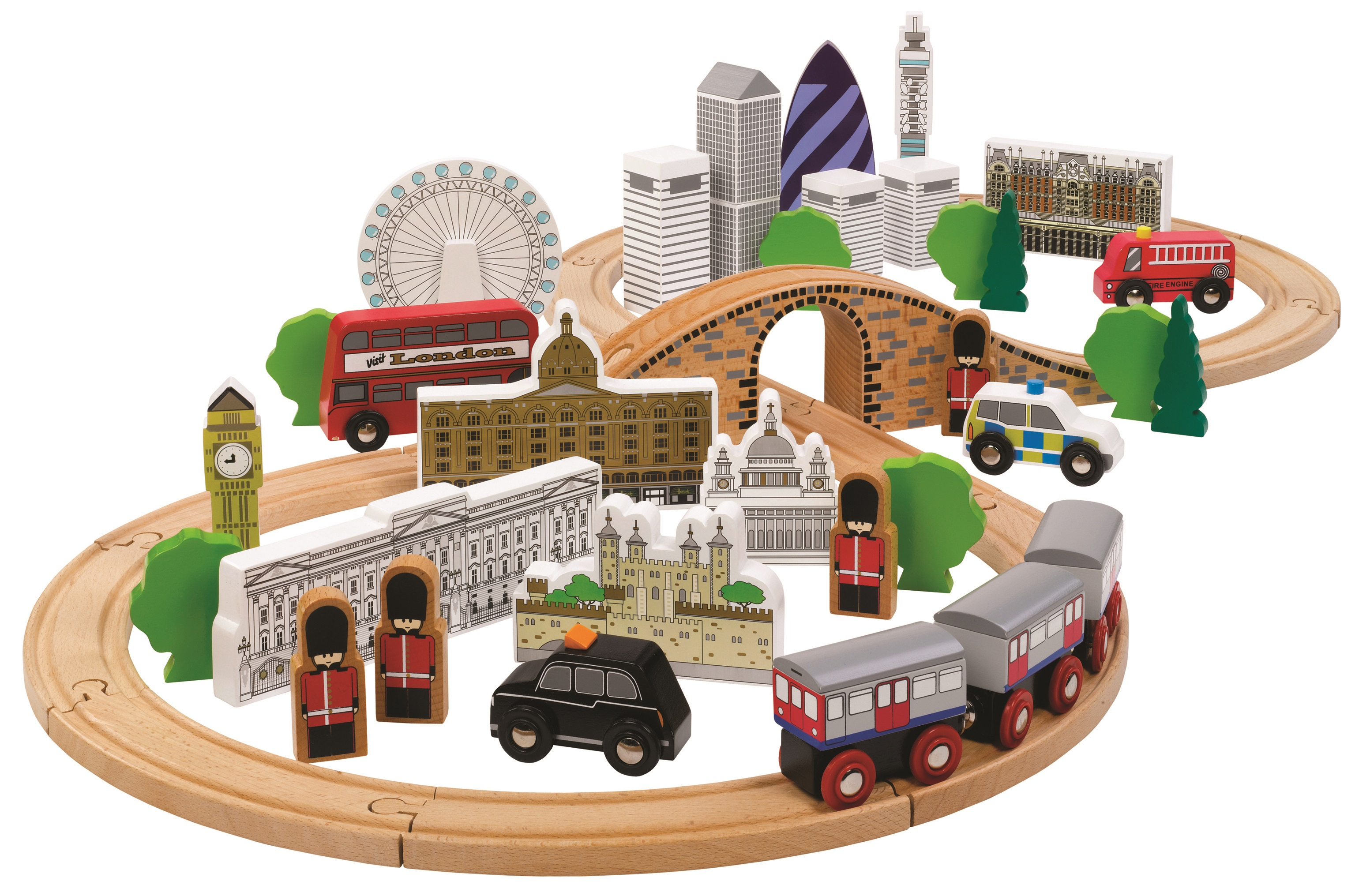 Tidlo Dřevěná vláčkodráha Londýn