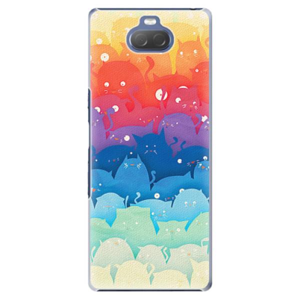 Plastové pouzdro iSaprio - Cats World - Sony Xperia 10 Plus