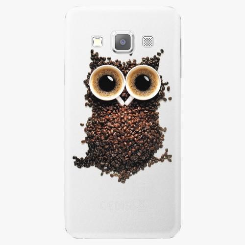 Plastový kryt iSaprio - Owl And Coffee - Samsung Galaxy A3