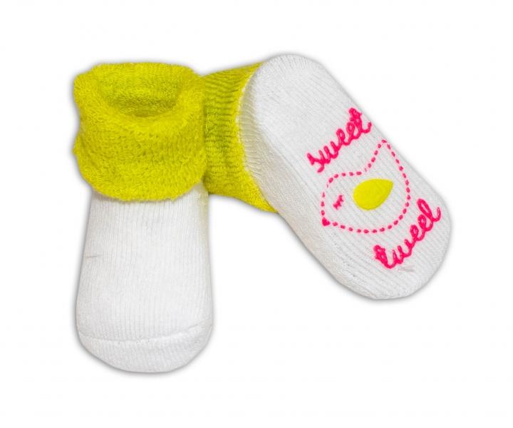 Kojenecké ponožky Risocks různé motivy - sv. zelená - 0/6 měsíců
