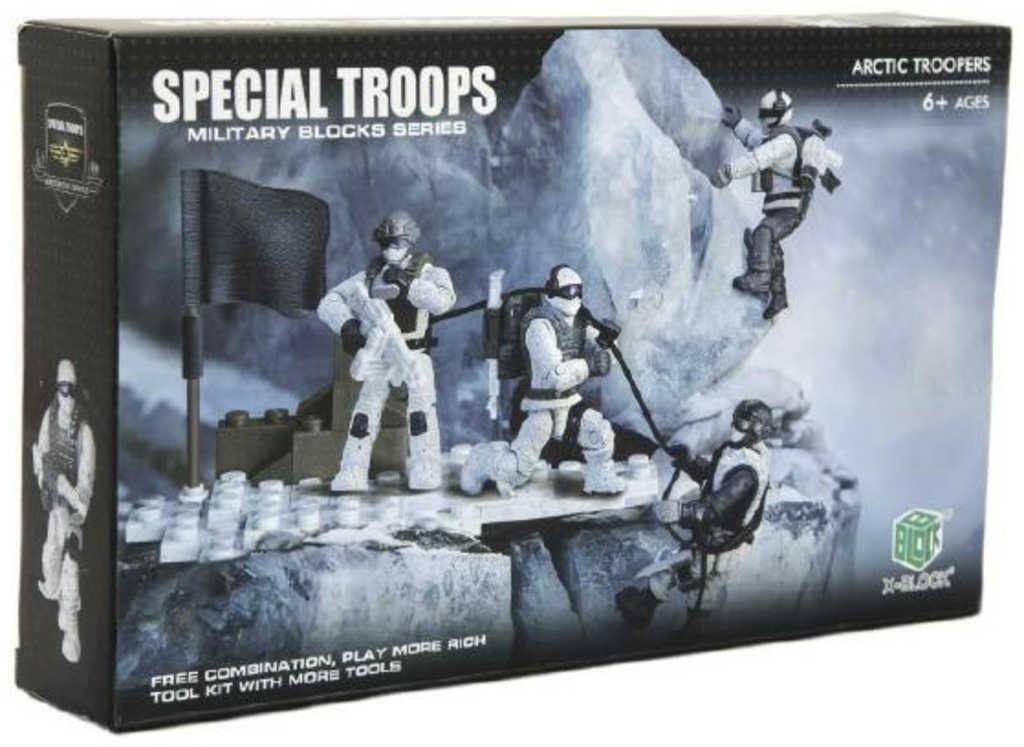 Arktická jednotka herní vojenský army set v krabici