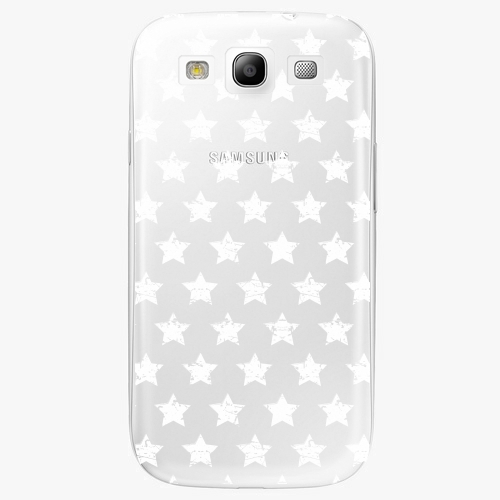 Plastový kryt iSaprio - Stars Pattern - white - Samsung Galaxy S3
