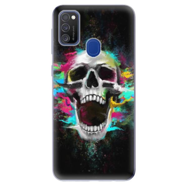 Odolné silikonové pouzdro iSaprio - Skull in Colors - Samsung Galaxy M21