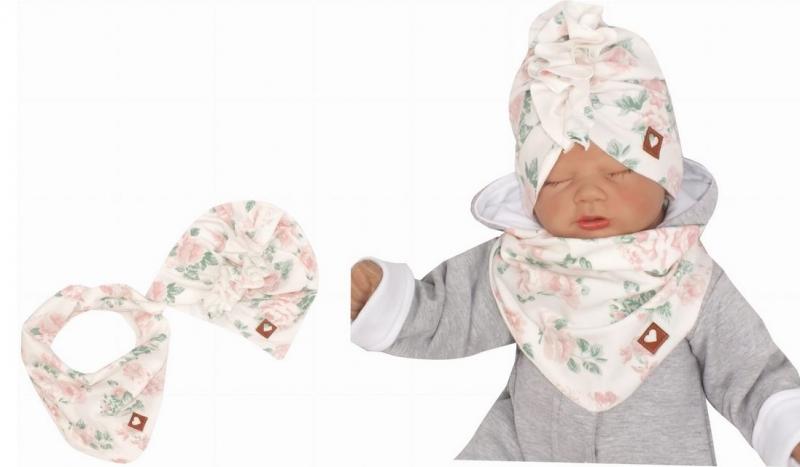 z-z-stylova-detska-jarni-podzimni-bavlnena-cepice-turban-s-satkem-kytky-48-52cm-48-52-cepicky-obvod
