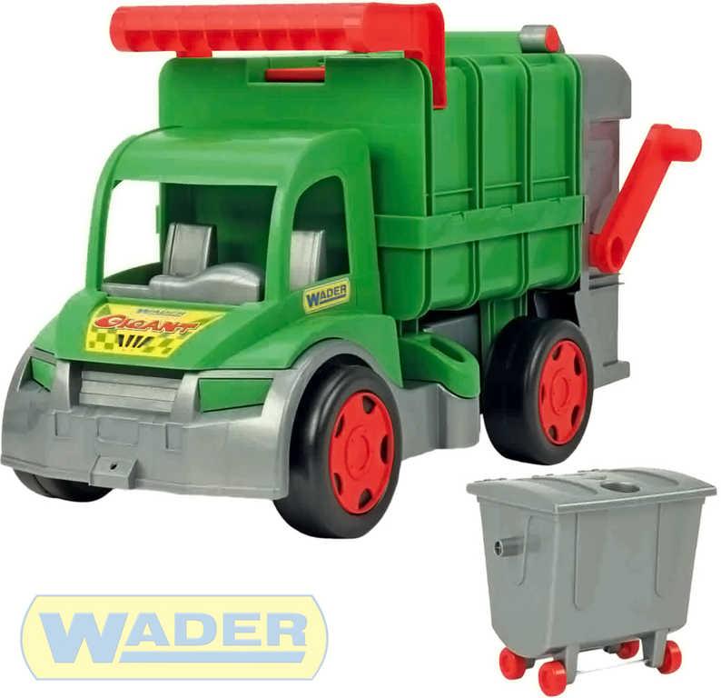 WADER Auto funkční Gigant popeláři 65cm zelený set s kontejnerem plast