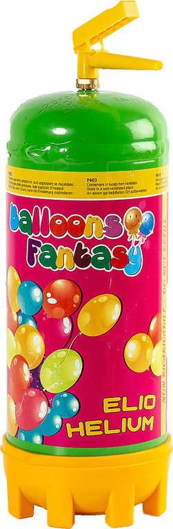 Helium 1,8l jednorázové na plnění nafukovacích balonků plynová láhev set s násadou