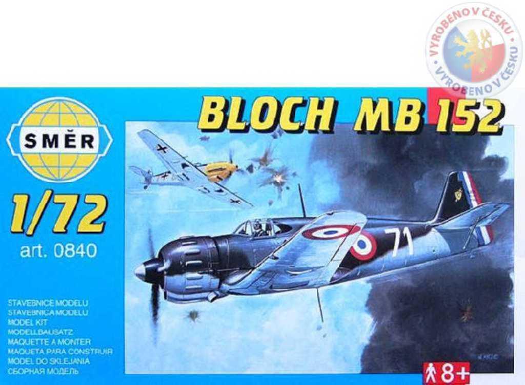 SMĚR Model letadlo Bloch MB 152 1:72 (stavebnice letadla)