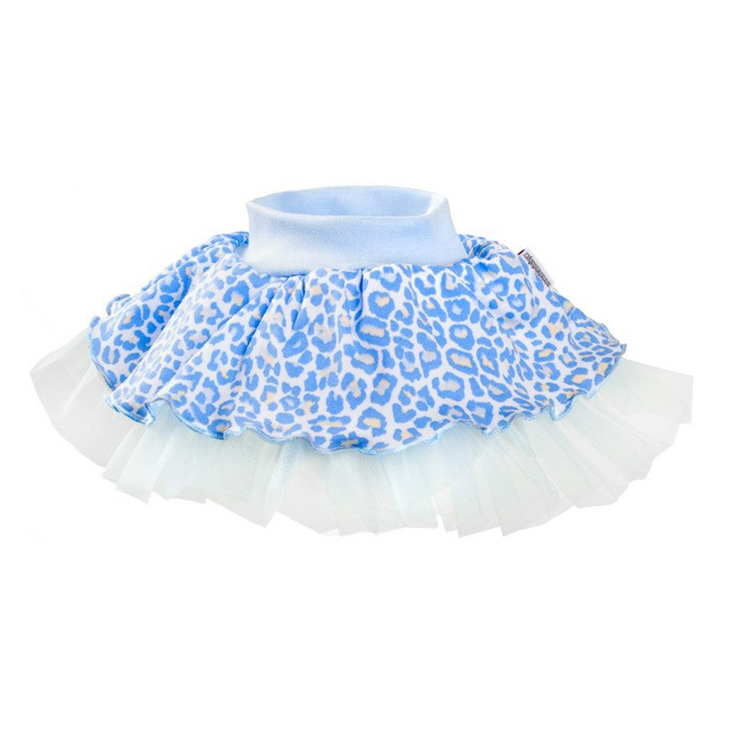 Kojenecká suknička s tylovou spodničkou New Baby Leopardík - modrá/98 (2-3r)