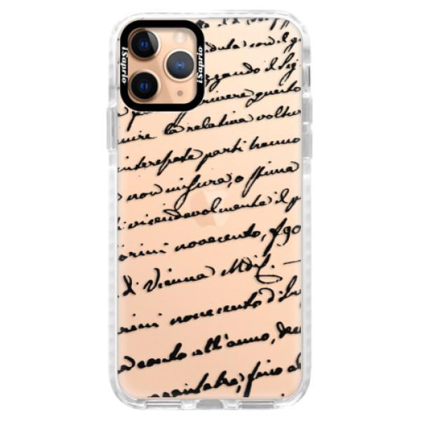 Silikonové pouzdro Bumper iSaprio - Handwriting 01 - black - iPhone 11 Pro