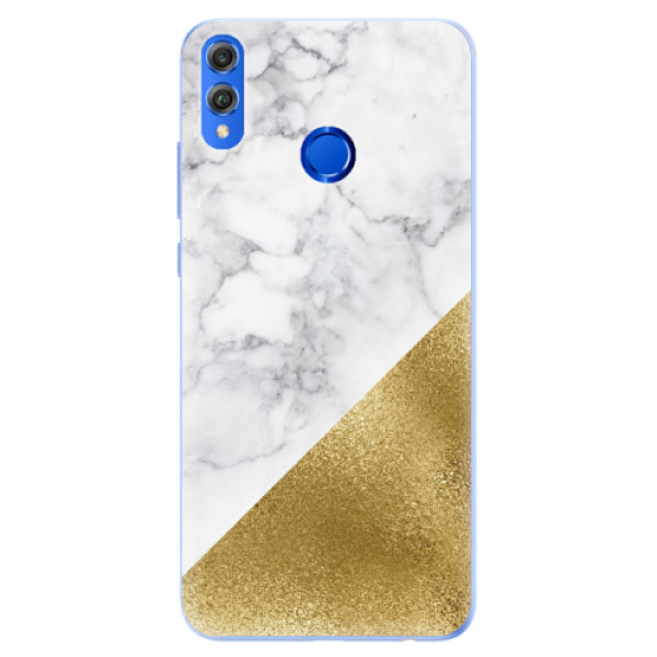 Silikonové pouzdro iSaprio - Gold and WH Marble - Huawei Honor 8X