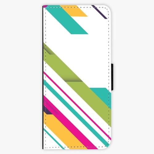 Flipové pouzdro iSaprio - Color Stripes 03 - Samsung Galaxy J3