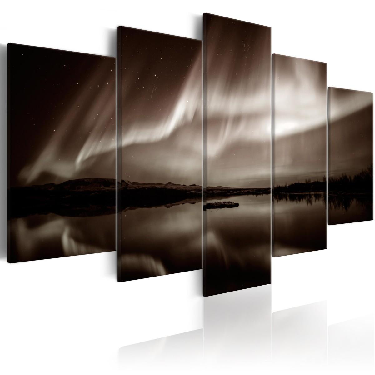 Pětidílný obraz - světlo z nebe