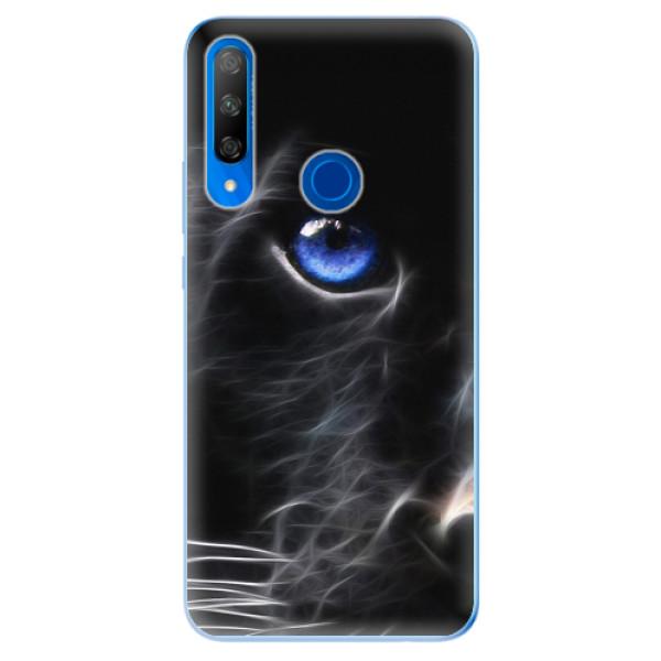 Odolné silikonové pouzdro iSaprio - Black Puma - Huawei Honor 9X