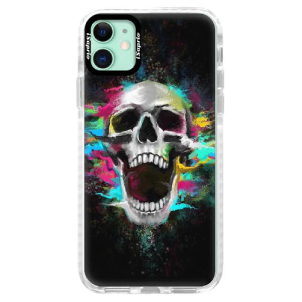 Silikonové pouzdro Bumper iSaprio - Skull in Colors - iPhone 11