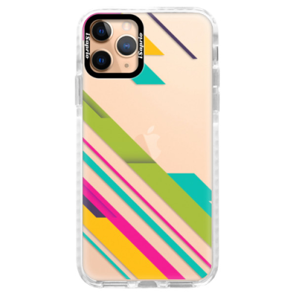 Silikonové pouzdro Bumper iSaprio - Color Stripes 03 - iPhone 11 Pro