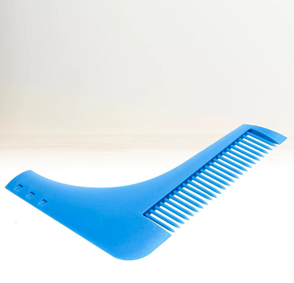 Hřeben na vousy - modrý