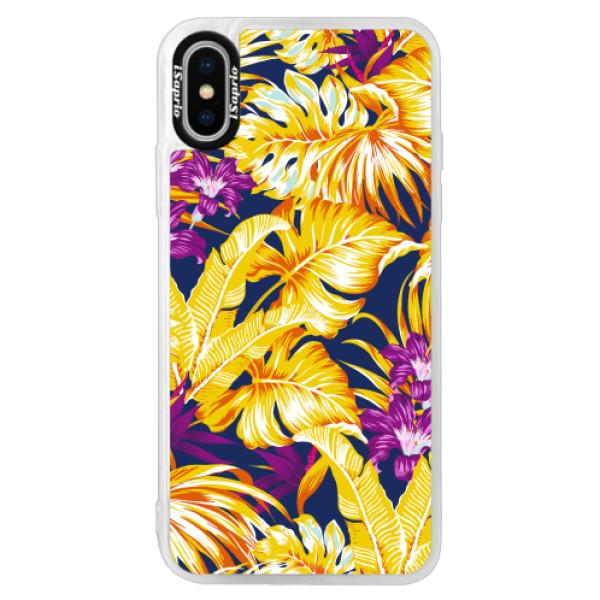 Neonové pouzdro Pink iSaprio - Tropical Orange 04 - iPhone X