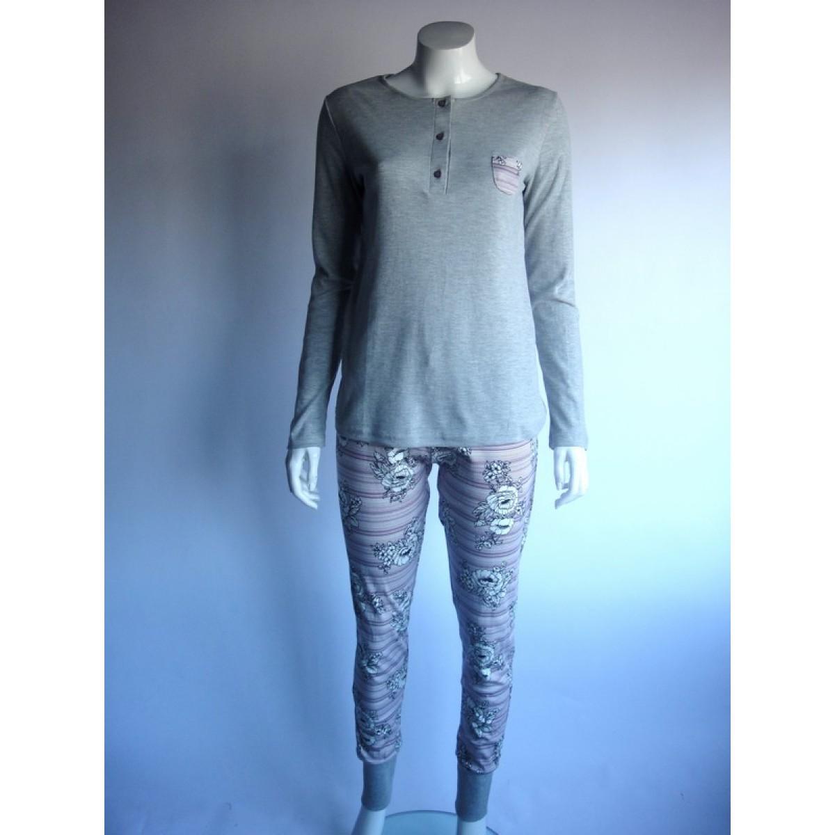 Dámské pyžamo 44805 - Sabrina (cocoon) - Šedý