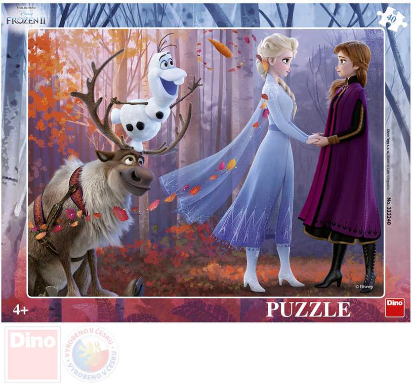 DINO Puzzle deskové 32x24cm Frozen 2 (Ledové Království) v rámečku 40 dílků