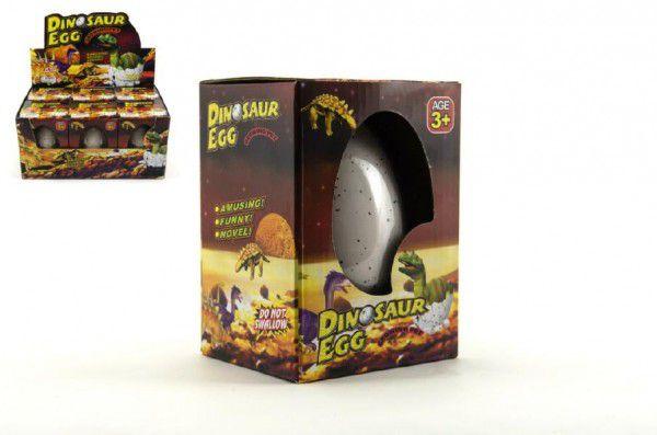 Dinosaurus velký líhnoucí a rostoucí z vajíčka 11cm v krabičce 6 ks v boxu