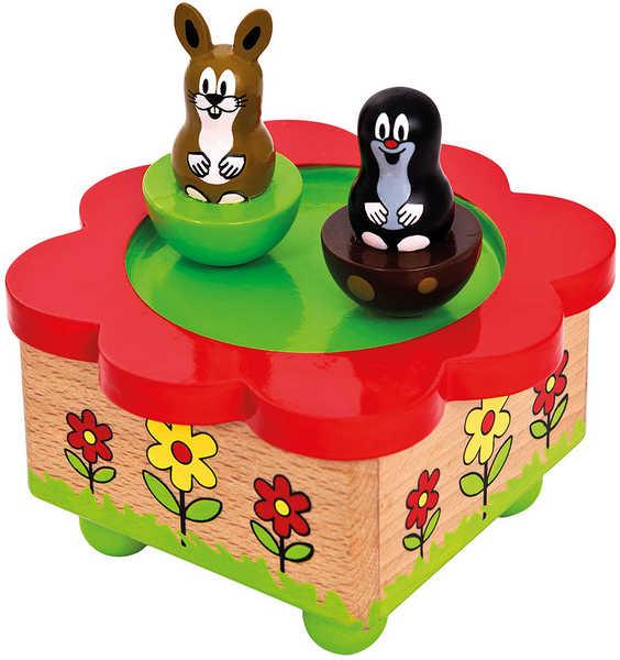BINO DŘEVO Skříňka hrací KRTEK a zajíček