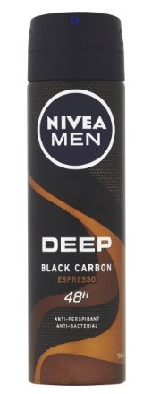 Men Deep Black Carbon Espresso antiperspirant, 150 ml