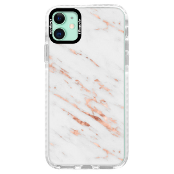 Silikonové pouzdro Bumper iSaprio - Rose Gold Marble - iPhone 11