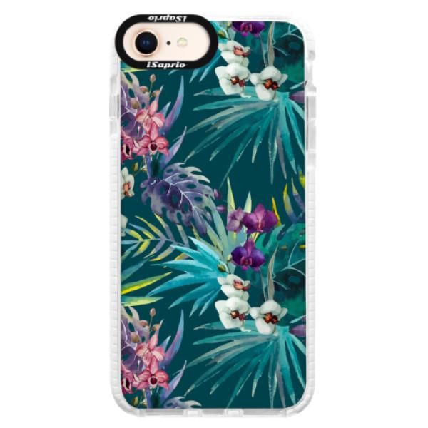 Silikonové pouzdro Bumper iSaprio - Tropical Blue 01 - iPhone 8