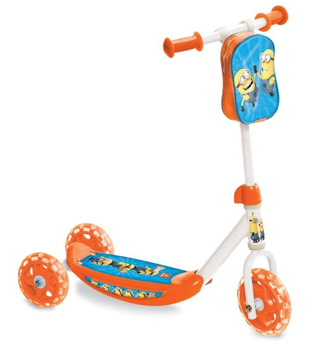 ACRA Mondo koloběžka dětská skládací 3 kola s baťůžkem Mimoňové (Minions)
