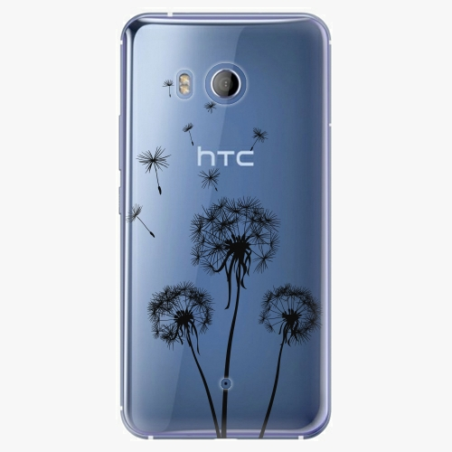 Plastový kryt iSaprio - Three Dandelions - black - HTC U11