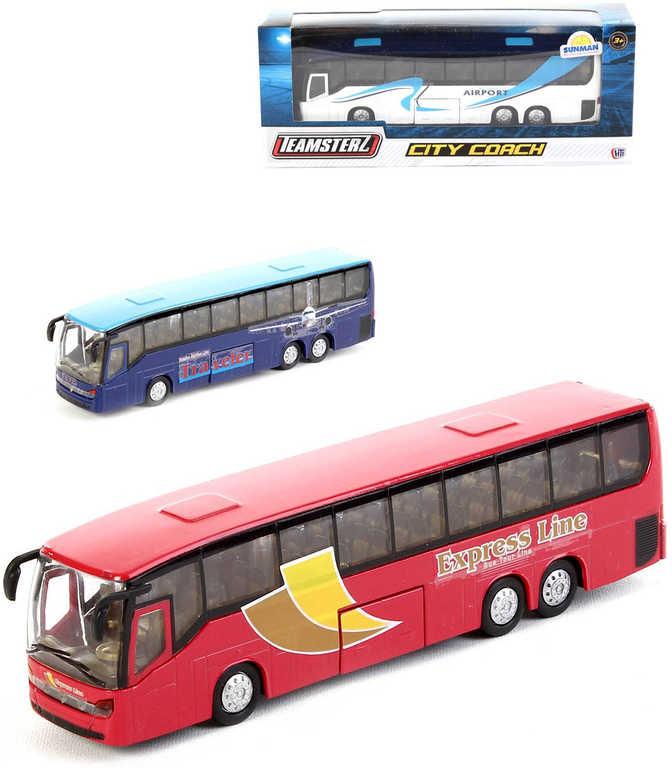Teamsterz autobus městský kovový 18 cm 1:50 - 3 druhy