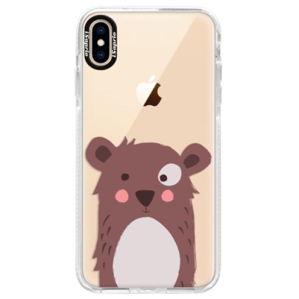 Silikonové pouzdro Bumper iSaprio - Brown Bear - iPhone XS Max