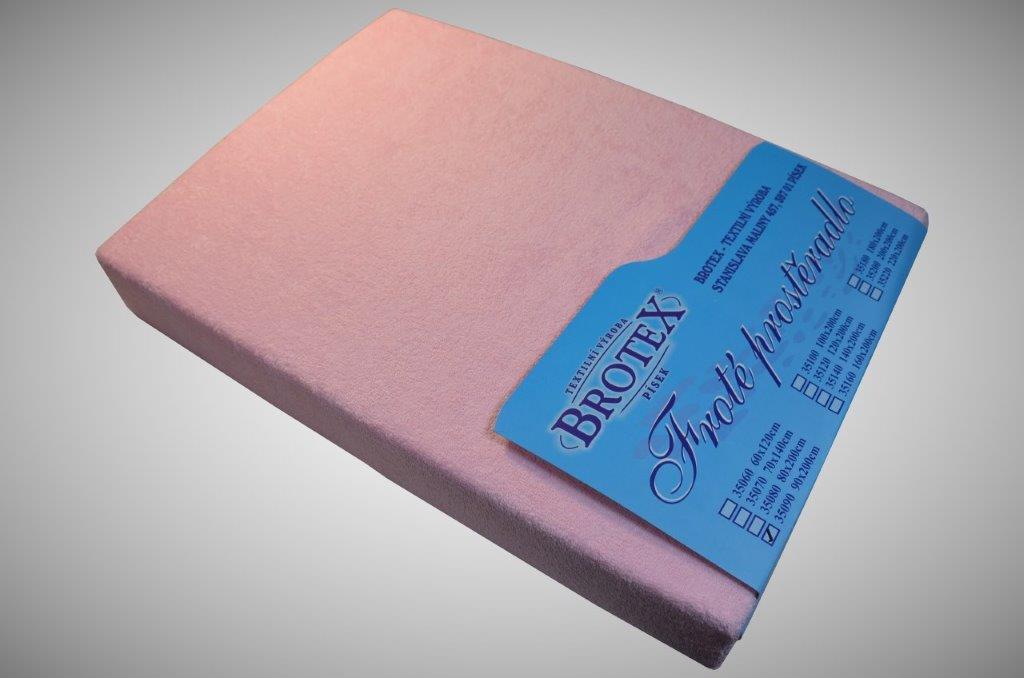 Froté prostěradlo růžová II.jakost, Výběr rozměru 90x200cm