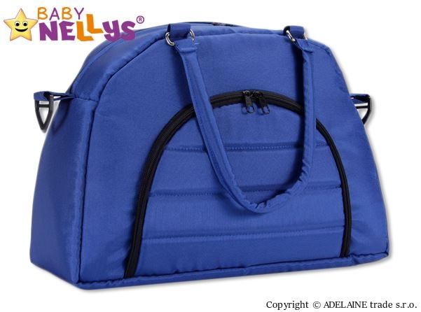 Taška na kočárek Baby Nellys ® ADELA LUX -granátová/tm.modrá