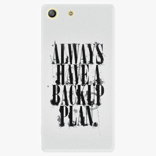 Plastový kryt iSaprio - Backup Plan - Sony Xperia M5