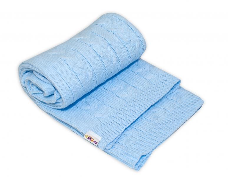 Dětská akrylová deka, dečka Baby Nellys, 110 x 50 cm - sv. modrá