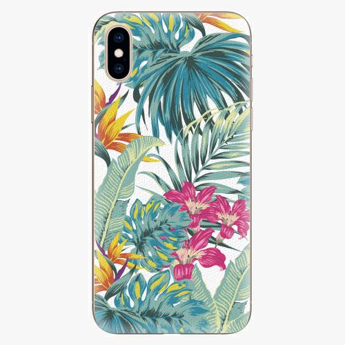 Silikonové pouzdro iSaprio - Tropical White 03 - iPhone XS