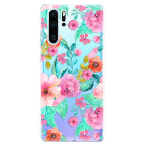 Odolné silikonové pouzdro iSaprio - Flower Pattern 01 - Huawei P30 Pro