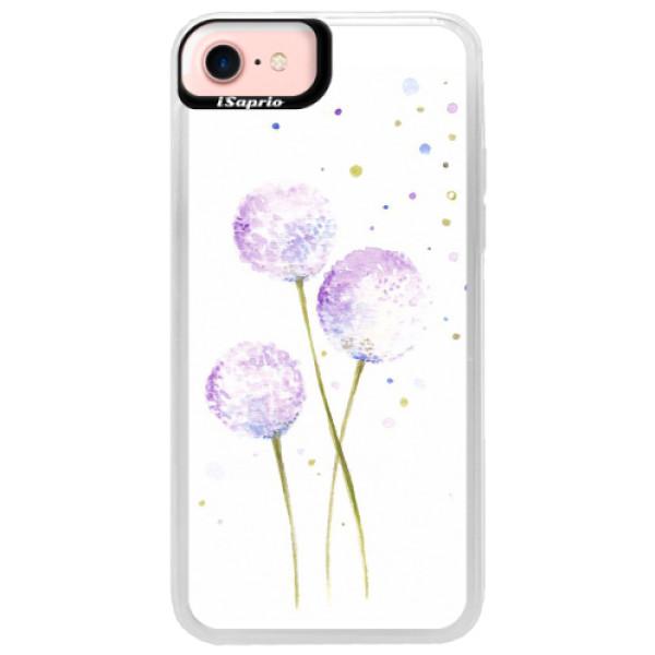 Neonové pouzdro Pink iSaprio - Dandelion - iPhone 7