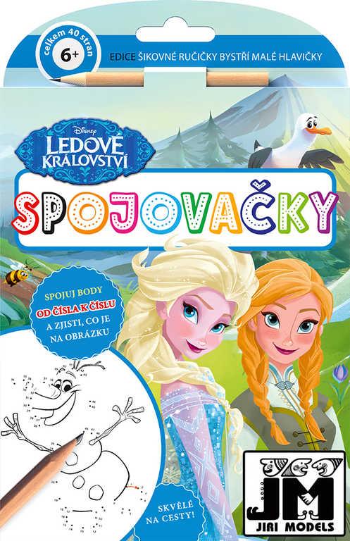 JIRI MODELS Spojovačky Frozen (Ledové Království) set s tužkou